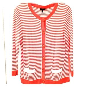 Talbots Striped Cardigan
